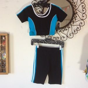 adidas Tops - Adidas Two Piece Athletic Jog Set Top + Shorts